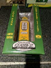 1997 Limited Edition 1950 John Deere Gas Pump Coin Bank Die Cast Metal Gearbox