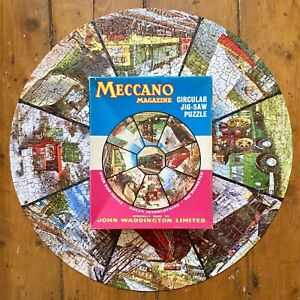 Vintage 1950's Meccano Magazine Jigsaw Puzzle COMPLETE Queen Mary Deltic