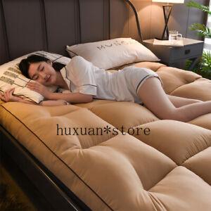 10cm Thick Velvet Mattress Dormitory Soft Foldable Tatami Single Bed Cotton Pad
