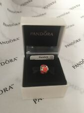 PANDORA Authentic RED HOT LOVE ENAMEL  Sterling Silver 925 Charm 790436ER New