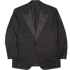 Sulka Saint Andrews Mens Tuxedo Coat 44R Black Wool Grosgrain Peak Lapel Jacket