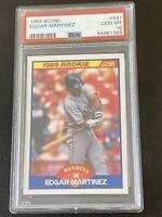 1989 Score EDGAR MARTINEZ #637 RC Rookie Card HOF PSA 10 GEM MT POP 55