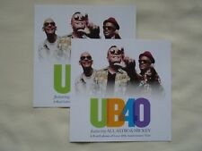 "UB40 Live ""A Real Labour of Love"" 40th Anniversary UK Tour 2019 Promo flyers x 2"