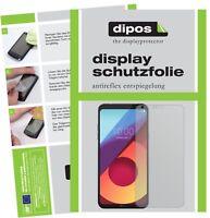 2x Folie für LG Q6 Schutzfolie matt Displayschutz Folie Display Schutz dipos