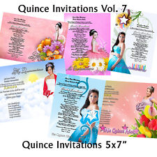 PSD Photoshop Template for Quinceaneras & Sweet 16 Invitations Vol. 7