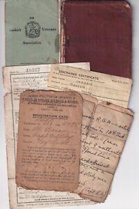 Army Service book paperwork Royal Artillery & Royal Engineers Leeds man Dunkirk