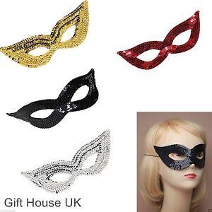 Sequin Eye Mask Masquerade Women Girls Face Mask For Halloween Party Fancy Dress