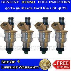 4x Genuine Denso Fuel Injectors For 94 To 97 Mazda Miata 1.8L 4Cyl  #195500-2180