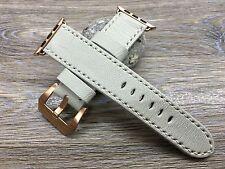 Apple Watch band Strap, 38mm, 42mm, Genuine Leather, Cream White
