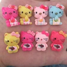 DIY 8pcs mix Resin series kitty cat Flatback Kid Scrapbooking Hair Bow Making