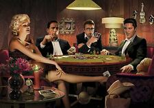 FOUR OF A KIND PRINT CHRIS CONSANI Elvis Marilyn Monroe James Dean poker poster