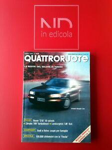 QUATTRORUOTE 414 APRILE 1990 - ROVER 216 GSI 16V  AUDI COUPE' 1.8  VOLVO 480 T