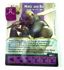 Wizkids Dungeons & Dragons Dados Masters, minsc y Boo Promo Card con Dados, Nuevo