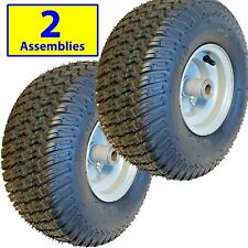 TWO 15x6.00-6 15x600-6 15/6.00-6 15/600-6 Lawn Mower Tire Rim Wheel Assembly