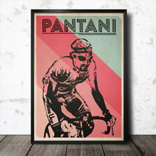 marco pantani retro cycling poster king of the mountains tour de france