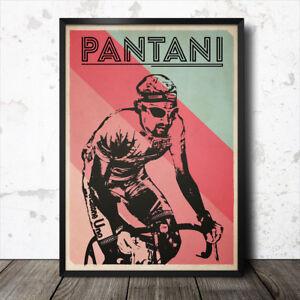 marco pantani retro cycling poster king of the mountains tour de france