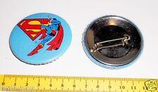 SUPERMAN 70s Dc Comics Mondadori italy big button pin - spilla grande mint