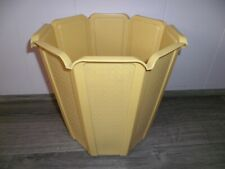 Vtg Rubbermaid ROUND Octagon Waste Paper Garbage Trash Can YELLOW Thatch 2945 IC