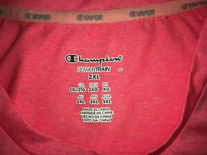 Women's Plus Size Champion PowerTrain Vapor Tee Size 2XL EUC