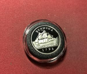 Bermuda 2 Dollars 1993 Silber PP - Segelschiff - Selten