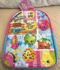 "New Shopkins 16"" Backpack Girls Toy Large Book Bag Pink & Blue"