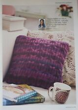Knitting Pattern for a ChunkyKnit Cable Cushion Cover + Crochet Slippers Pattern
