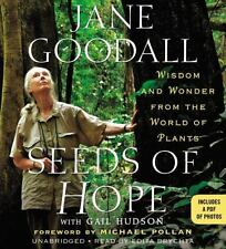 New Audio Book Seeds of Hope Wisdom & Wonder from the Plant World Jane Goodall