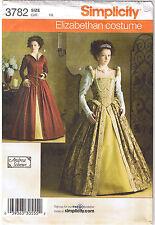 Elizabethan Tudor Costume Dress Gown Underskirt Bum Roll Sew Pattern 6 8 10 12