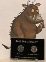 2019 UK The Gruffalo BUNC 50p Coin In Display Case Ideal For Christmas Gift