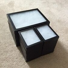 "(12) - 3-1/4 x 4-1/4 x 3/4"" Plus (6) - 6 x 8 x 3/4"" Display Cases (""Riker"" type)"