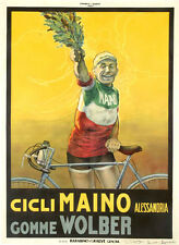 Italian Cycling Champion CICLI MAINO 1928 Vintage POSTER 24x36 Gallery Reprint