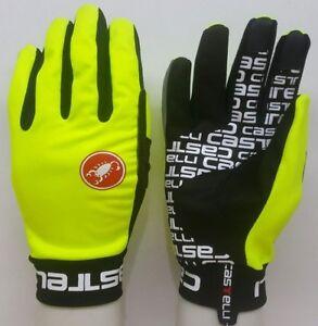 Fluorescent Yellow Brand New Castelli Scalda Winter Gloves Size Extra Large (XL)