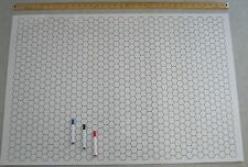 "Double-Sided Game Mat with Markers (Square, Hex,24""x36"") for RPGs, Miniatures"