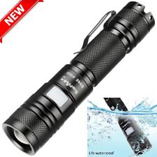 950 Lumens Small Tactical LED Flashlight USB Rechargeable Waterproof 5 Modes EDC
