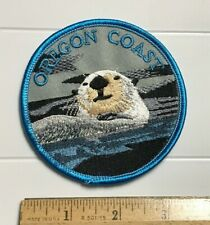 Oregon Coast Swimming Otter Or Souvenir Embroidered Round Patch