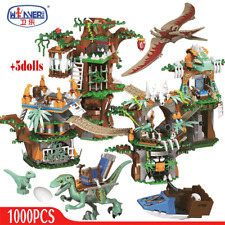 1000pcs Jurassic World Dinosaur Tree House Building Blocks Xmas Gift Toys Kids