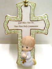 FIRST COMMUNION CROSS BOX WITH ROSARY  -  BOY