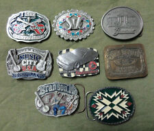 #NN. EIGHT BELT BUCKLES - ELVIS, MUSIC, WHISKEY, BEER etc