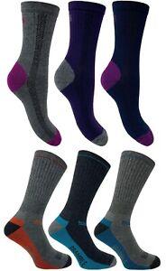Bramble Men's & Women's Premium Walking, Hiking Socks. 3 Pack, Cotton Rich.