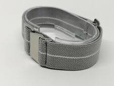 22mm silver Military style Watch Strap parachute elastic nato