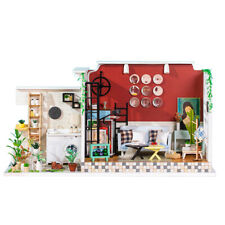 1/24 Scale Wooden Dollhouse Miniature Kits Furniture Room Model