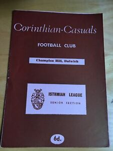 CORINITHIAN CASUALS  V MAIDSTONE UNITED  1967/68   ISTHMIAN LEAGUE     10/2/1968