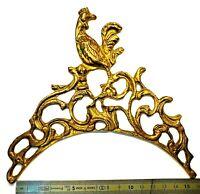 Fronton coq Rocaille L XV clock uhr uhren lanterne horloge comtoise coq N1 N 18