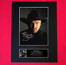 GARTH BROOKS Signed Reproduction Autograph Mounted Photo Print A4 332