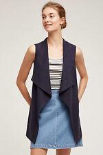 NWT Anthropologie Paros Vest, by elevenses - navy, size L