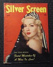 1945 April SILVER SCREEN Magazine VG+ 4.5 Lana Turner Cover