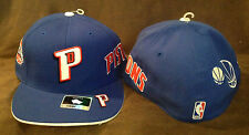 Detroit Pistons Reebok Fitted Hat NBA Elements Blue Authentic Throwback 7 3/4