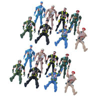 20pcs Military Playset Plastic Toy 9cm Soldier Army Men Figures Kids Toys