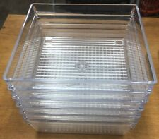 6 Pack (6x6x2) Acrylic Bowls/Holders/Container/organizer (Used)