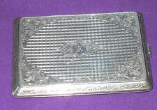 Antiguo 1930s muy pesada 149.7 gramos Austriaca Plata 900 caso de la tarjeta de cigarrillo